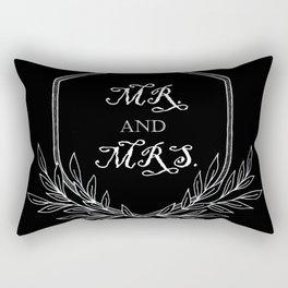 Mr. and Mrs. hand drawn black crest Rectangular Pillow