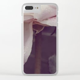 Vintage rose #3 Clear iPhone Case