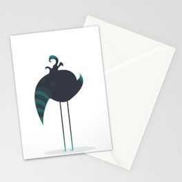 Melancholic Bird Stationery Cards
