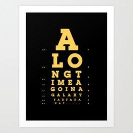 Jed Eye Chart Art Print