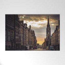 Royal Mile Sunrise in Edinburgh, Scotland Welcome Mat