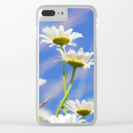 Summer Meadow with wild flowers and grass Clear iPhone Case