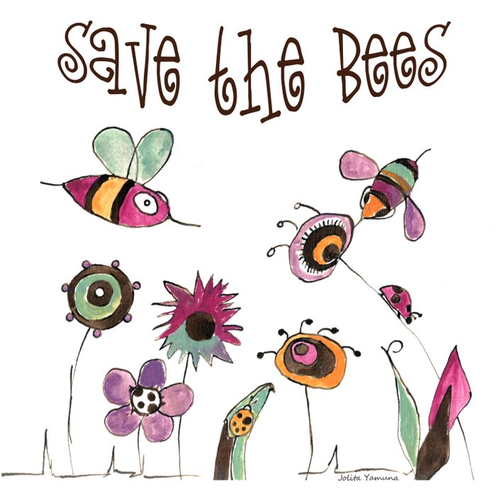 Save the Bees Duvet Cover
