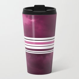 Intermittent sunset in purple Travel Mug