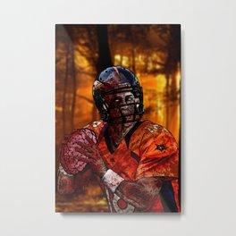 Peyton Manning zombie Metal Print