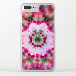 Summer Tie Dye Starburst Clear iPhone Case