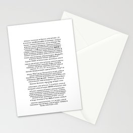 ARTIST in 91 languages Stationery Cards