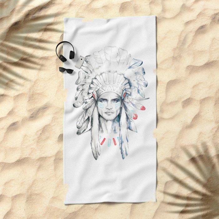 Indian Man Beach Towel