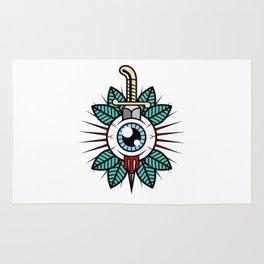 Eyeball Tattoo Rug