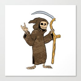 cartoon grim reaper. Canvas Print