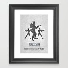 STAR WARS - Attack of the Clones (with Background) Framed Art Print