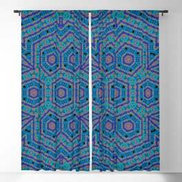 2106 Blue regulated chaos pattern Blackout Curtain