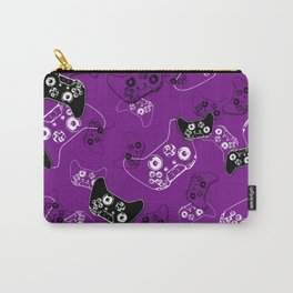 Video Game Purple Carry-All Pouch
