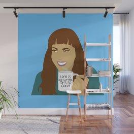 Life Is Like Coffee Wall Mural