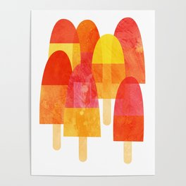 Ice Lollies and Popsicles Poster