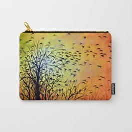 Abstract Landscape Original Painting...HOMEWARD Carry-All Pouch