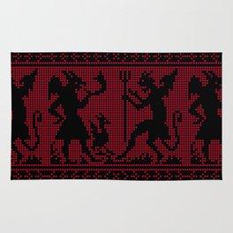 Devil Sweater Pattern Rug
