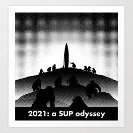 2021: a SUP odyssey Art Print