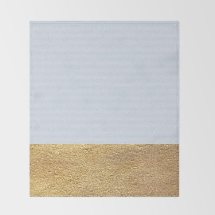 Color Blocked Gold Periwinkle Throw Blanket By Caitlinworkman Interesting Periwinkle Throw Blanket