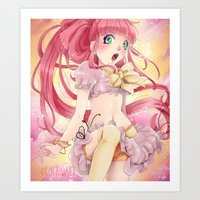 princess bubblegum Art Prints featuring Princess Bubblegum by Elisa Ellie Serio