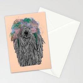 Dredlock Dog (Pastel Orange Edition) Stationery Cards