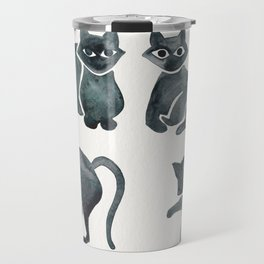 Cat Positions – Black Palette Travel Mug