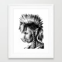 warcraft Framed Art Prints featuring Punk Troll by Georgia Goddard