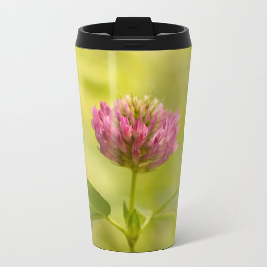 Red clover in August Metal Travel Mug