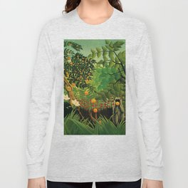 "Henri Rousseau ""Exotic landscape"", 1910 Long Sleeve T-shirt"
