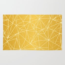 Mosaic Triangles Repeat Seamless Pattern gold Rug