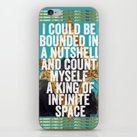 hamlet iPhone & iPod Skins featuring Hamlet Quote by Kitch&Bold