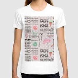 Vintage , romantic pattern. T-shirt