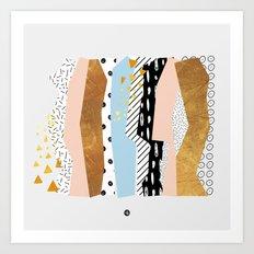 Geometric shapes 01 Art Print