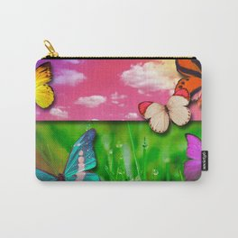 Colorful Butterflies & Beautiful Nature Carry-All Pouch