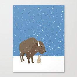 buffalo & prairie dog - I've got you covered Canvas Print