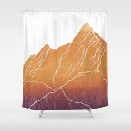 Colorado Mountain Ranges_Boulder Flat Irons Shower Curtain