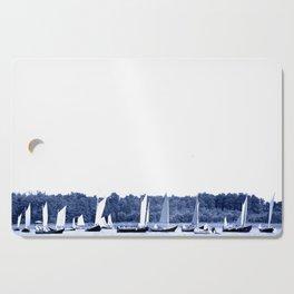 Dutch sailing boats in Delft Blue colors Cutting Board