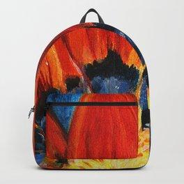Orange Flower Painting Backpack