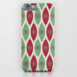 Festive Ornaments & Snow iPhone Case