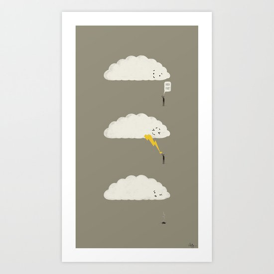 Cloud High Five Art Print