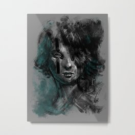 Ink and Color girl Metal Print