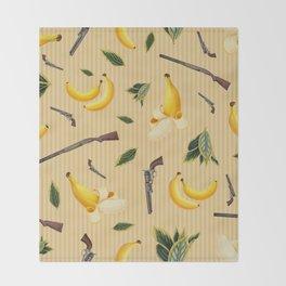 Wild West Gone Bananas! Throw Blanket