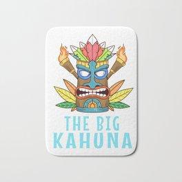 Tiki Gift Design Hawaiian Island The Big Kahuna Print Bath Mat