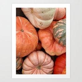 Rainbow Pumpkins Art Print