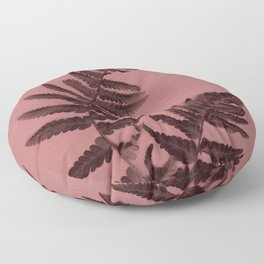 Fern on marsala Floor Pillow