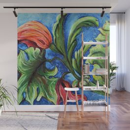 Beaux Arts Green Leaf Relief Wall Mural