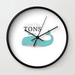 Love You Tons Wall Clock