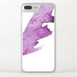 Violet Swipe Abstract Watercolor Clear iPhone Case