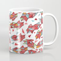 triangles Mugs featuring triangles by Matthew Taylor Wilson