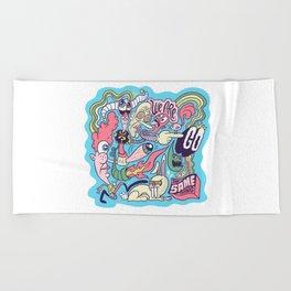 Doodle #2389 Beach Towel